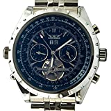 GuTe Pro Multi-functional Automatic Mechanical Watch for Mens Chrome Steel Luminous Calendar