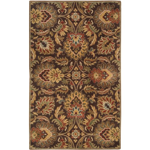 Surya Caesar CAE-1028 Classic Hand Tufted 100% Wool Dark Chocolate 9' x 12' Traditional Area Rug Caesar Chocolate