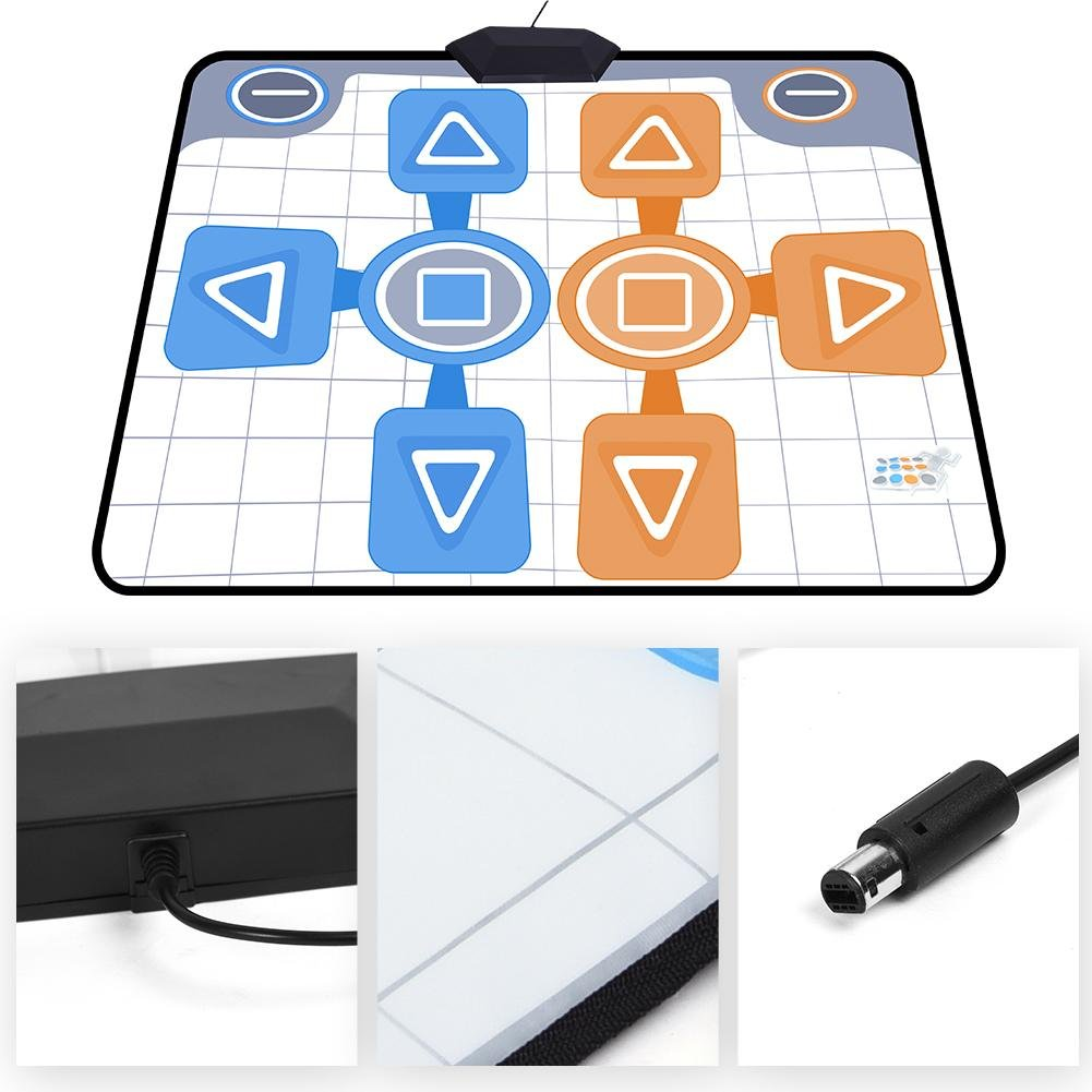 Double Person Dancing Mat,Non-Slip Game Dance Pads for Nintendo Wii Console Game,Plug and Play for 2 Player by Tangxi (Image #5)