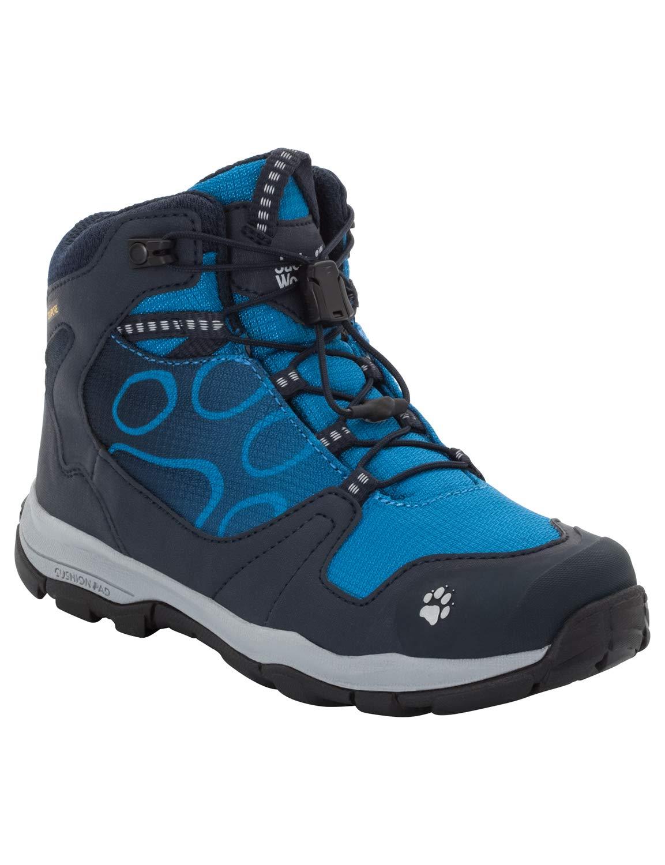 Jack Wolfskin Boy's AKKA Texapore MID Boy's Waterproof Hiking Boot Boot, Night Blue, US Toddler 10 M US Toddler