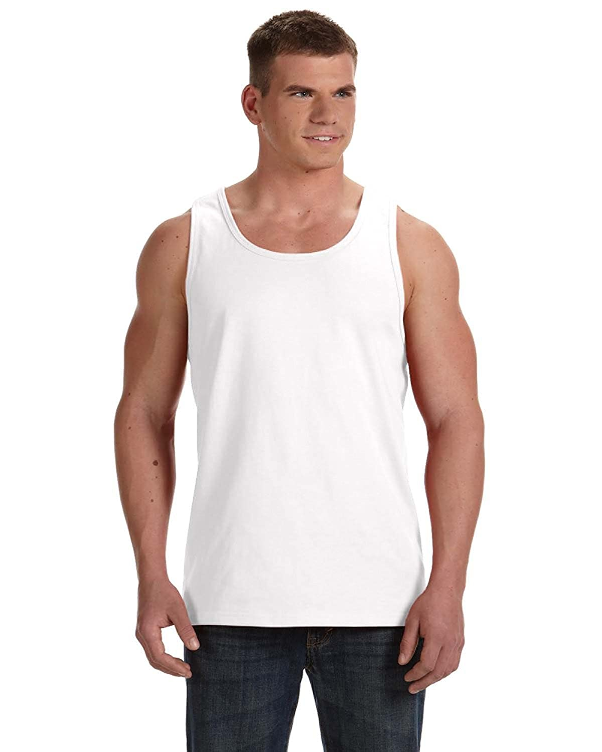 S - Fruit of the Loom Adult 5 oz HD Cotton Tank Style # 39TKR - Original Label White