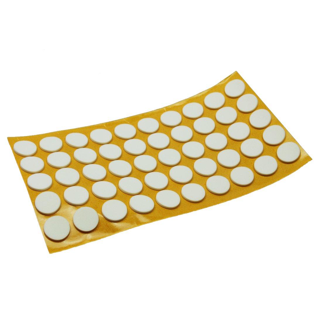 autocollant Top Qualit/é Antid/érapant Pads en caoutchouc EPDM//zellkaut blanc blanc diff/érentes tailles 2,5/mm