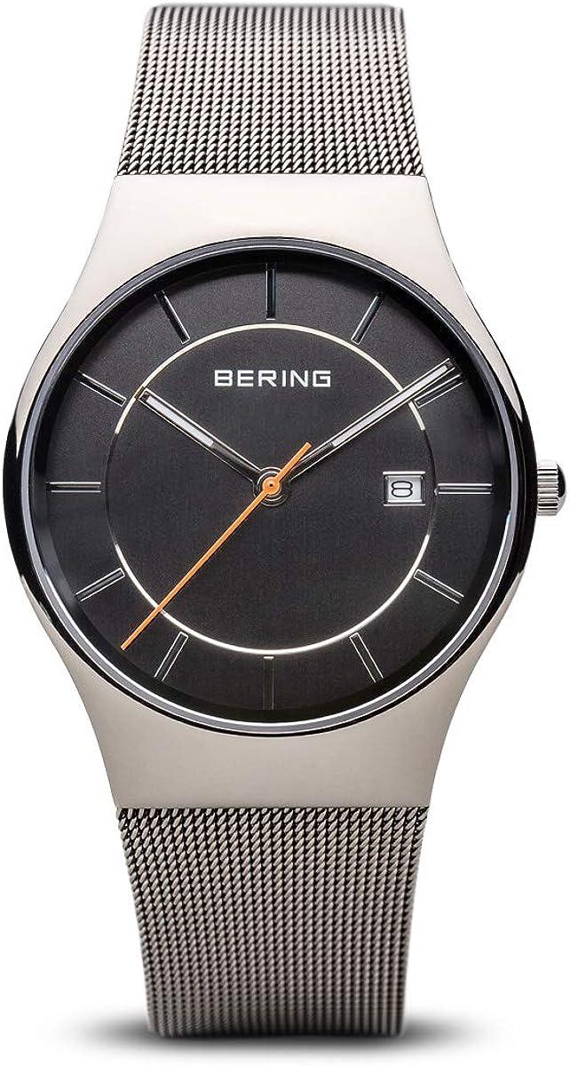 BERING Reloj Analógico para Hombre de Cuarzo con Correa en Acero Inoxidable 11938-007