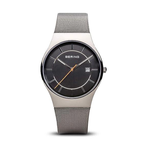 BERING Reloj Analógico para Hombre de Cuarzo con Correa en Acero Inoxidable 11938-007: Amazon.es: Relojes