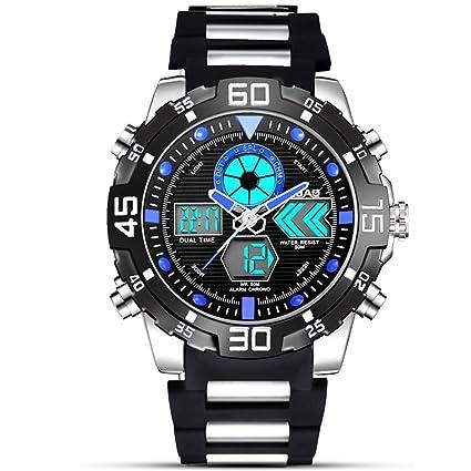 SW Watches Relojes Deportivos para Hombre Digitales - Relojes Deportivos Impermeables Al Aire Libre con Banda
