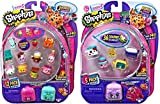Shopkins Season 5 (1) 12 Pack and (1) 5 Pack with Bracelet Charms and Petkins Backpacks Styles and Figures Vary