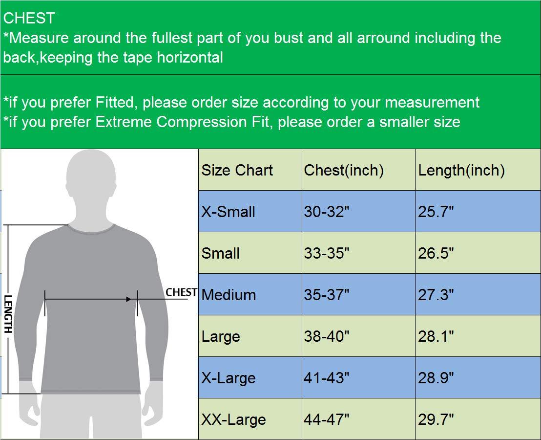 Neleus Men's 3 Pack Compression Workout Long Sleeve Shirts,5030,Black,Grey,Red,US 2XL,EU 3XL