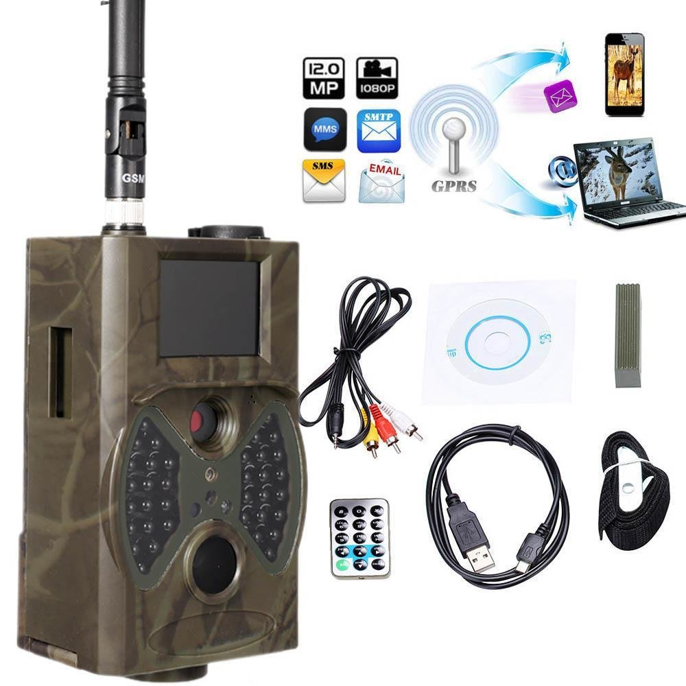 Trail Camera, 12MP HD 1080P Infrared Sensor Night Vision Scouting Camera, LCD Digital Wlidlife Camera for Game & Hunting [US Stock]