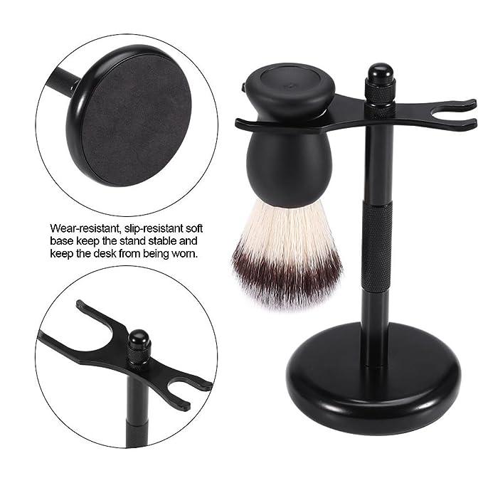 Cepillo de barba con afeitadora Soporte masculino Cepillo de afeitar Razor  Barber Men Equipo de limpieza facial y Beard Ave Tool  Amazon.es  Salud y  cuidado ... f34e23111b15