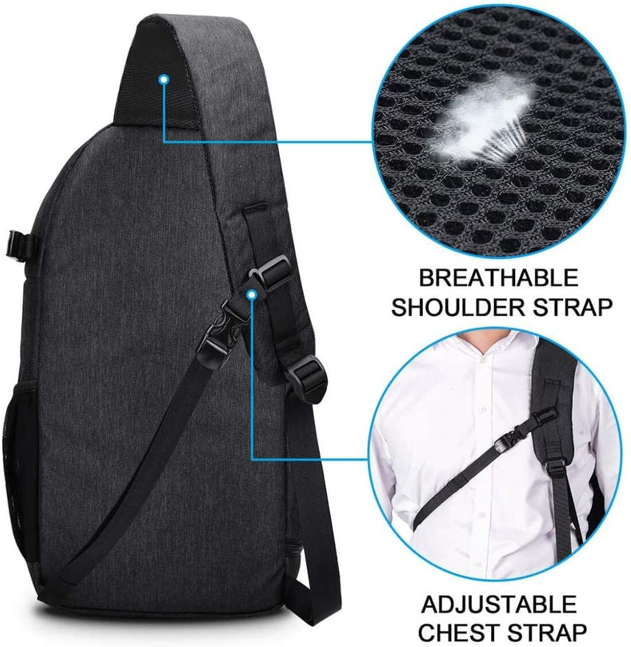 H/örsein Explosion Photo Camera Sling Nylon Bag Shoulder Cross Digital Case Waterproof Rain Cover DSLR Soft Durable for Canon Nikon Sony SLR.