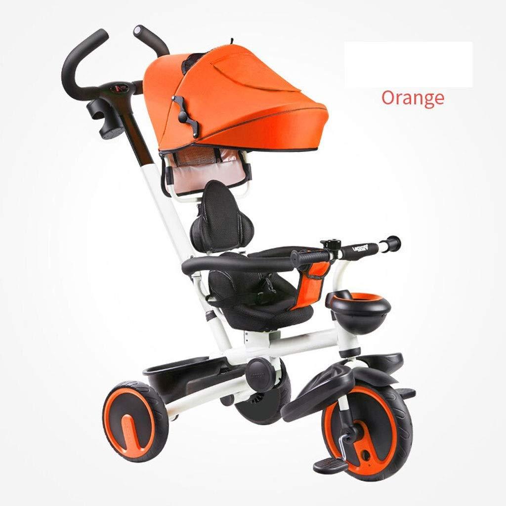 barato en línea naranja Cochecitos Carretilla Carretilla Carretilla de los cochecitos, Carro del bebé del Triciclo de los niños Que dobla la Bici del Cochecito del Cochecito del Carro de bebé de la Bici de 1-6 años (Color   rojo)  popular