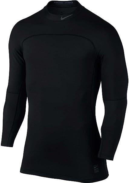 3ba1b302fa59c Nike Pro Hyperwarm – Camiseta de Manga Larga Camiseta de Bajera Ajustable
