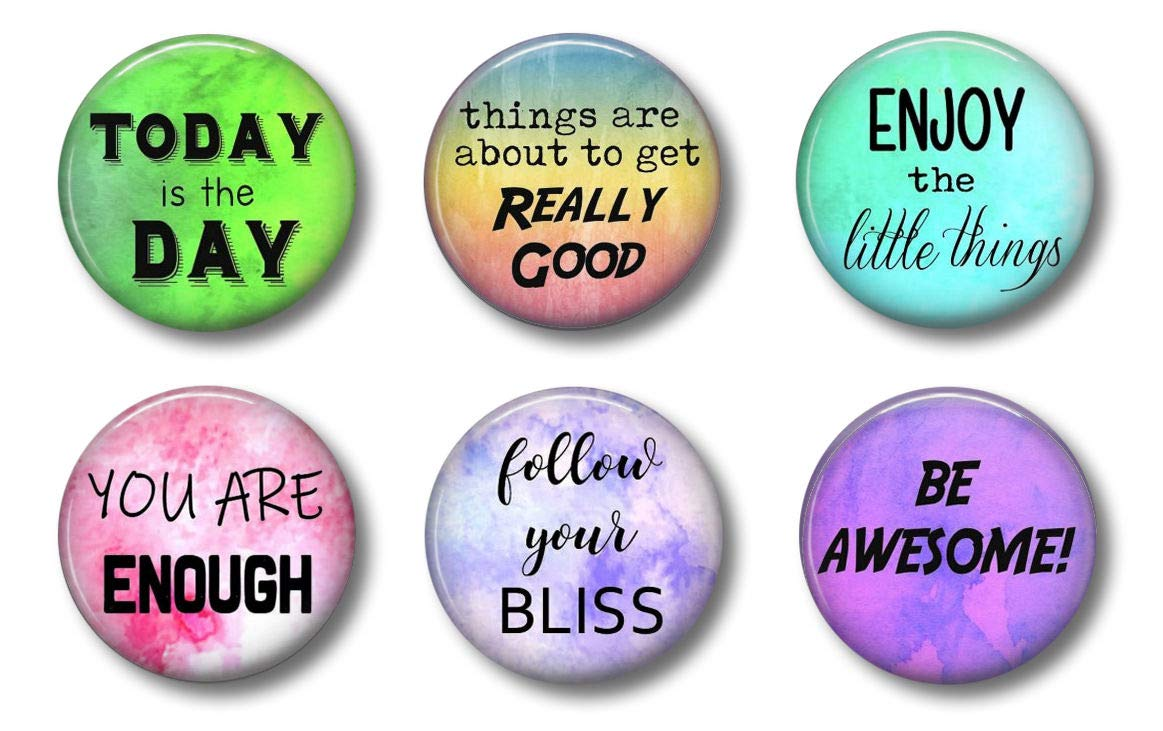 Locker Magnets Inspirational and Motivational Sets For Home, School or Office (Set 2)
