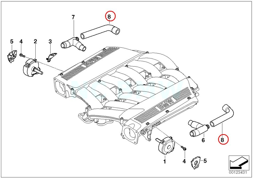 BMW Genuine Vent Hose