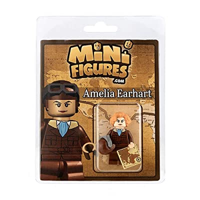 Custom Design Minifigure - Amelia Earhart - Collectable Toy Figurine For Kids, Men and Women: Toys & Games