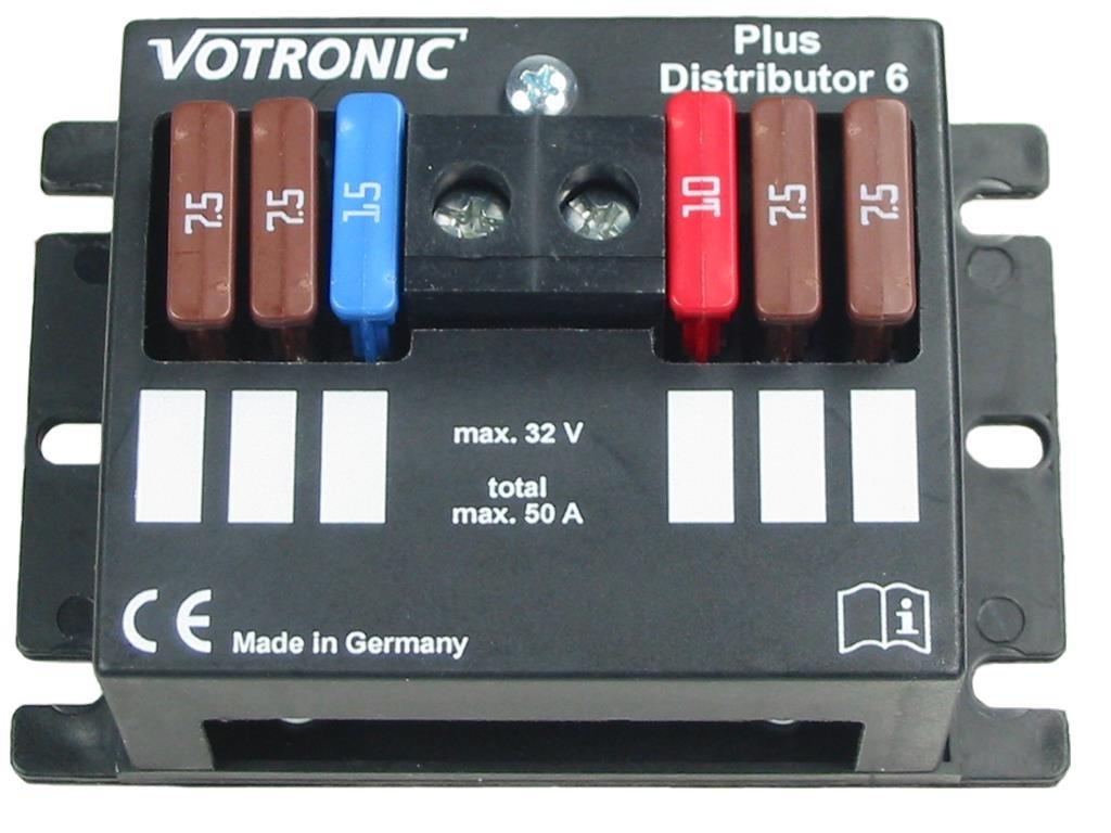Con protecció n de contactos Votronic Distributor 6 Plus