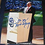 Signed Dick Enberg Photograph - EMMY 8x10 COA - Autographed MLB Photos