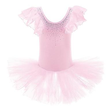dae20c71a Amazon.com  XTS Girls  Rhinestone Ornament Tiered Ballet Tutu Dress ...