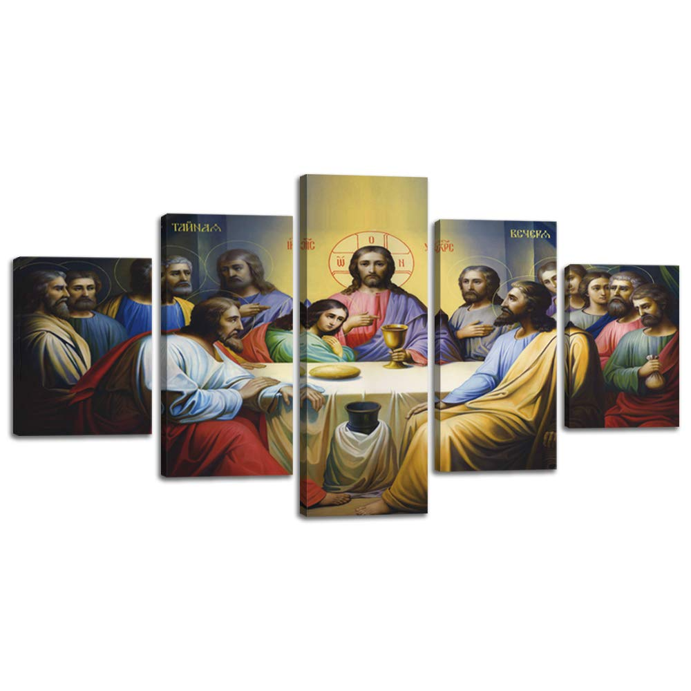 VIIVEI Christ Christian Canvas Wall Art Prints Jesus The Last Supper Christmas Wall Decor Home Decals for Living Room…