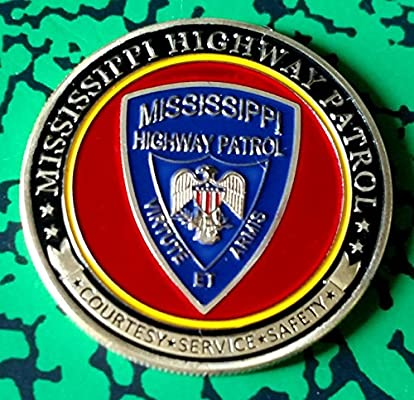 Mississippi State Highway Patrol Trooper Police Challenge Art Coin