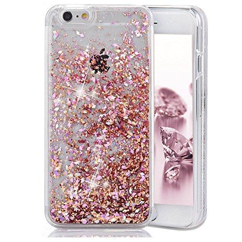 iPhone SE Case, iPhone 5 5S Case, Crazy Panda Luxury 3D Creative Liquid Diamond Glitter Case for iPhone SE 5S, Flowing Quicksands Bling Glitter Sparkle Hard Case for iphone SE/5/5S - Pink Diamond