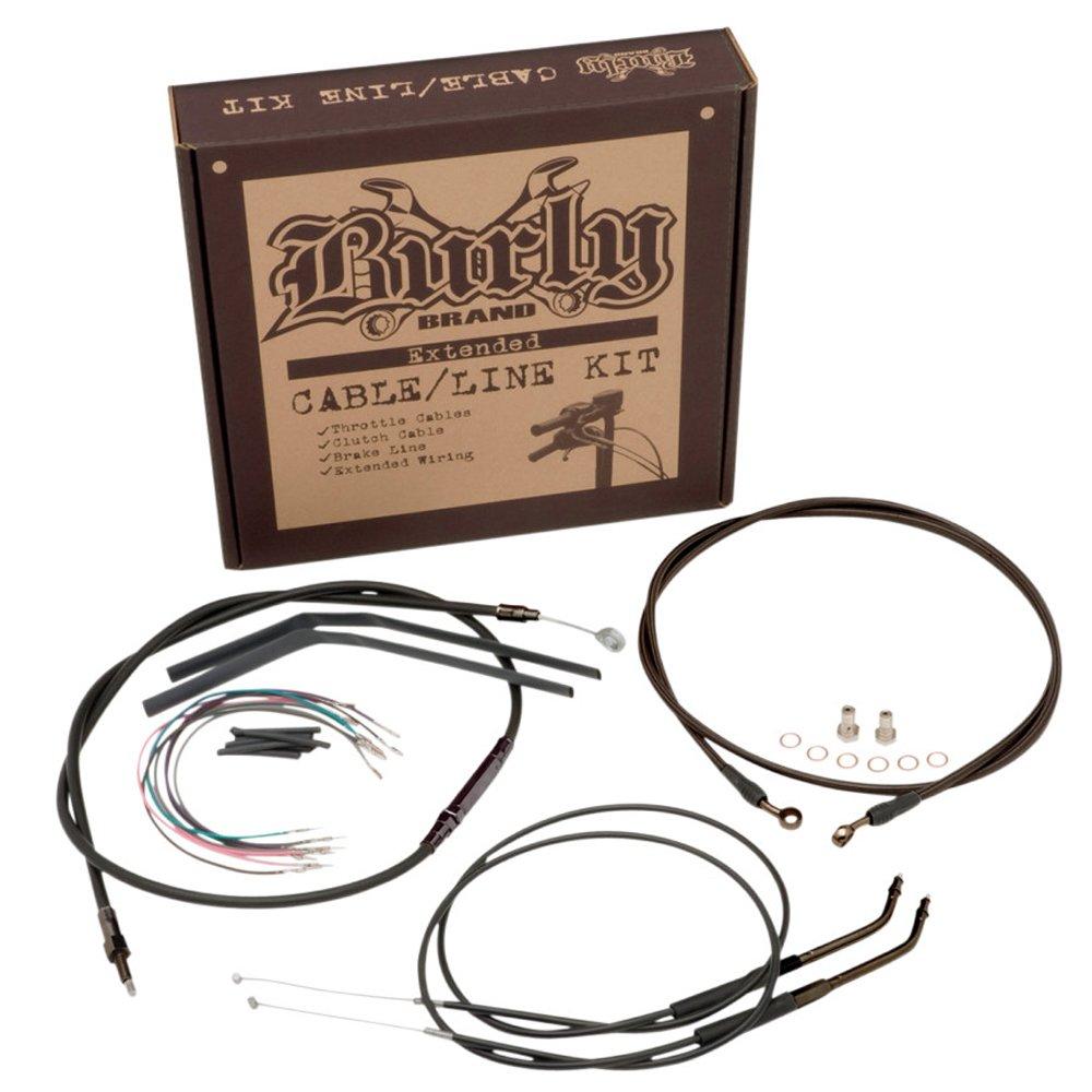 Burly Brand Cable/Brake Line Kit for Ape Hangers for Harley Davidson 2000-06 FXST/B/D models - 18'' by BURLY