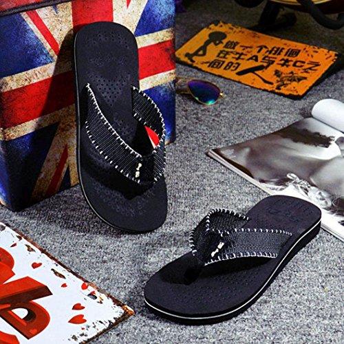 Mens Sommar Flip-flops Toffel Sandaler Av Perman Svart