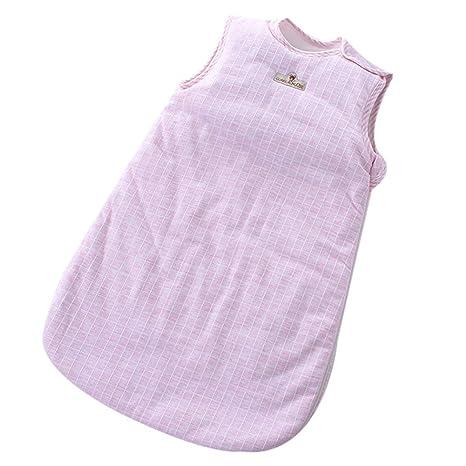 Saco de dormir sin mangas para recién nacido, chaleco para niña, saco de dormir