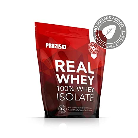 Prozis Real Whey Isolate, Sabor Chocolate y Avellanas - 1000 gr