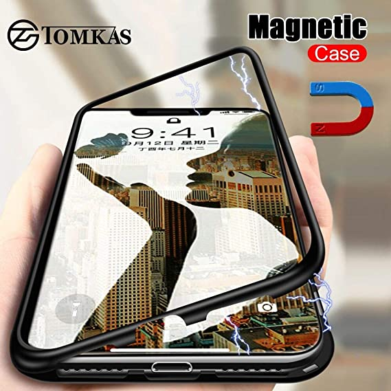 Amazon.com: Magnetic Case for iPhone X 8 XS 7, 10 Cover ...