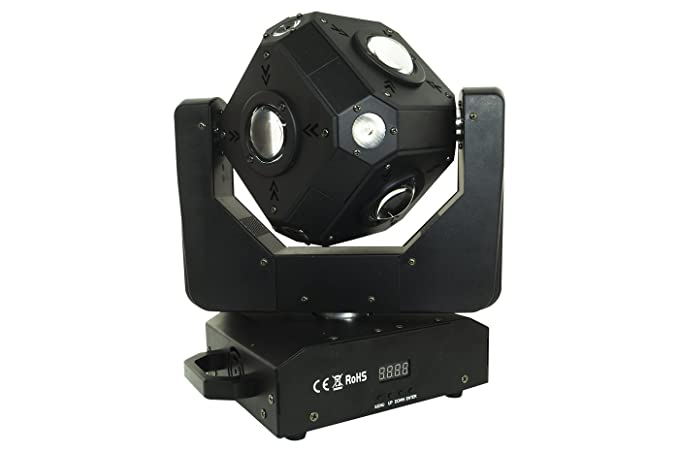 BES 20076 Foco Proyector Cubo, 12 LED, RGBW, Cabeza Mobile ...