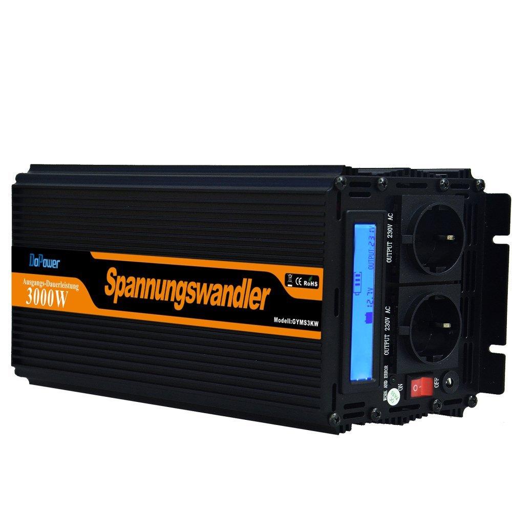 convertisseur 3000 6000W onduleur 12V à 220V onde sinusoïdale modifiée LCD delicate