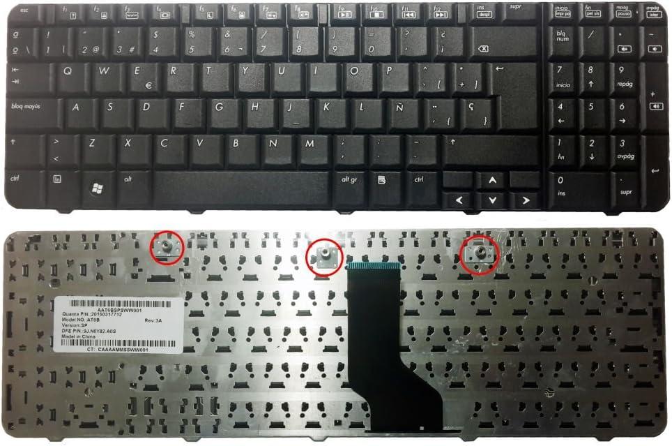 Teclado para Portatil Hp Compaq CQ60 Presario G60 Teclado en español - Numero de Parte: 9J.NOY82.A0S