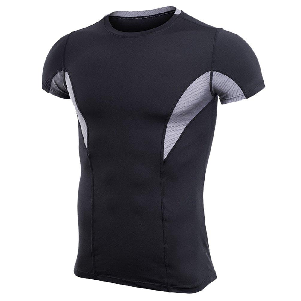 ZKOO Maglietta a Compressione Uomo Manica Corta Sport Baselayer Asciugatura Rapida T-Shirt