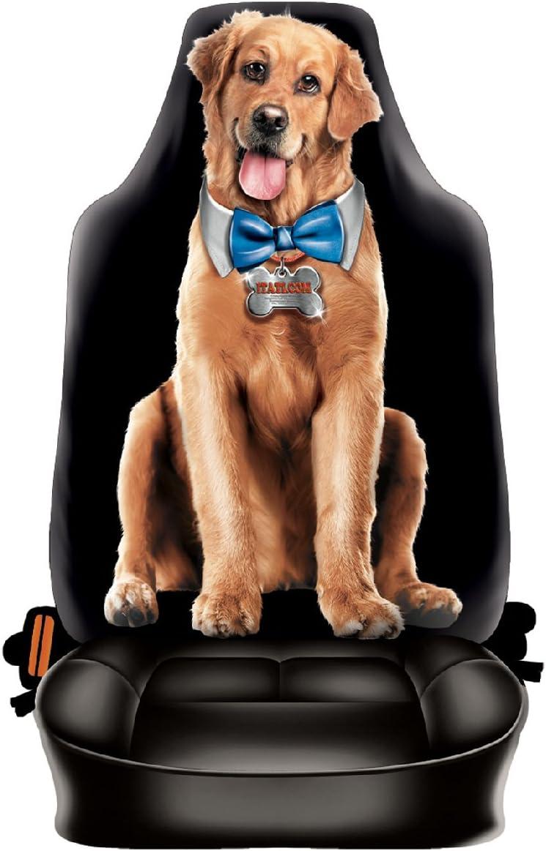 Auto Sitzbezug Treuer Hund Der Beste Freund Lustiger Sitzbezug Mit Fotodruck Motiv Ein Hingucker Mit Humor Für Ihr Auto Auto