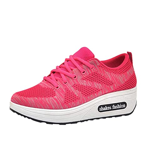 dcf2b307cf7c0 Amazon.com: Clearance Women Woven Mesh Sneakers Casual Sports ...