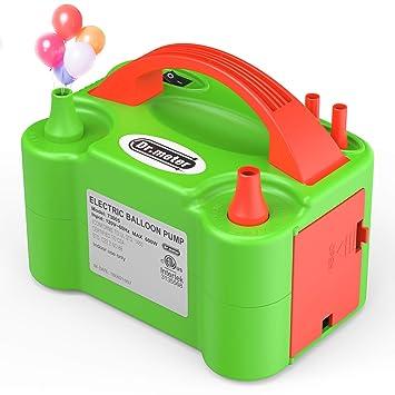 Amazon.com: Dr.meter Bomba eléctrica de globo de aire, bomba ...