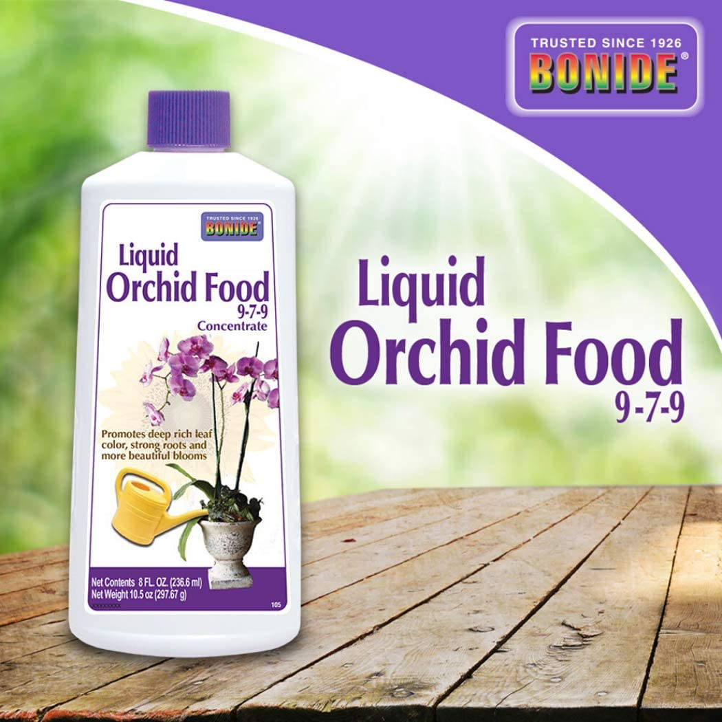Bonide Products 105 8OZ 9-7-9 Orchid Food, 8 oz, White