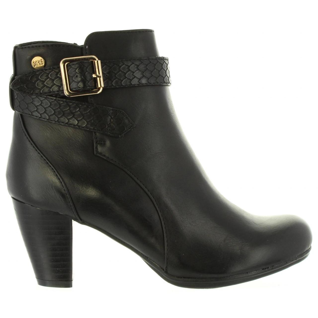 XTI Stiefel für Damen 47327 C schwarz