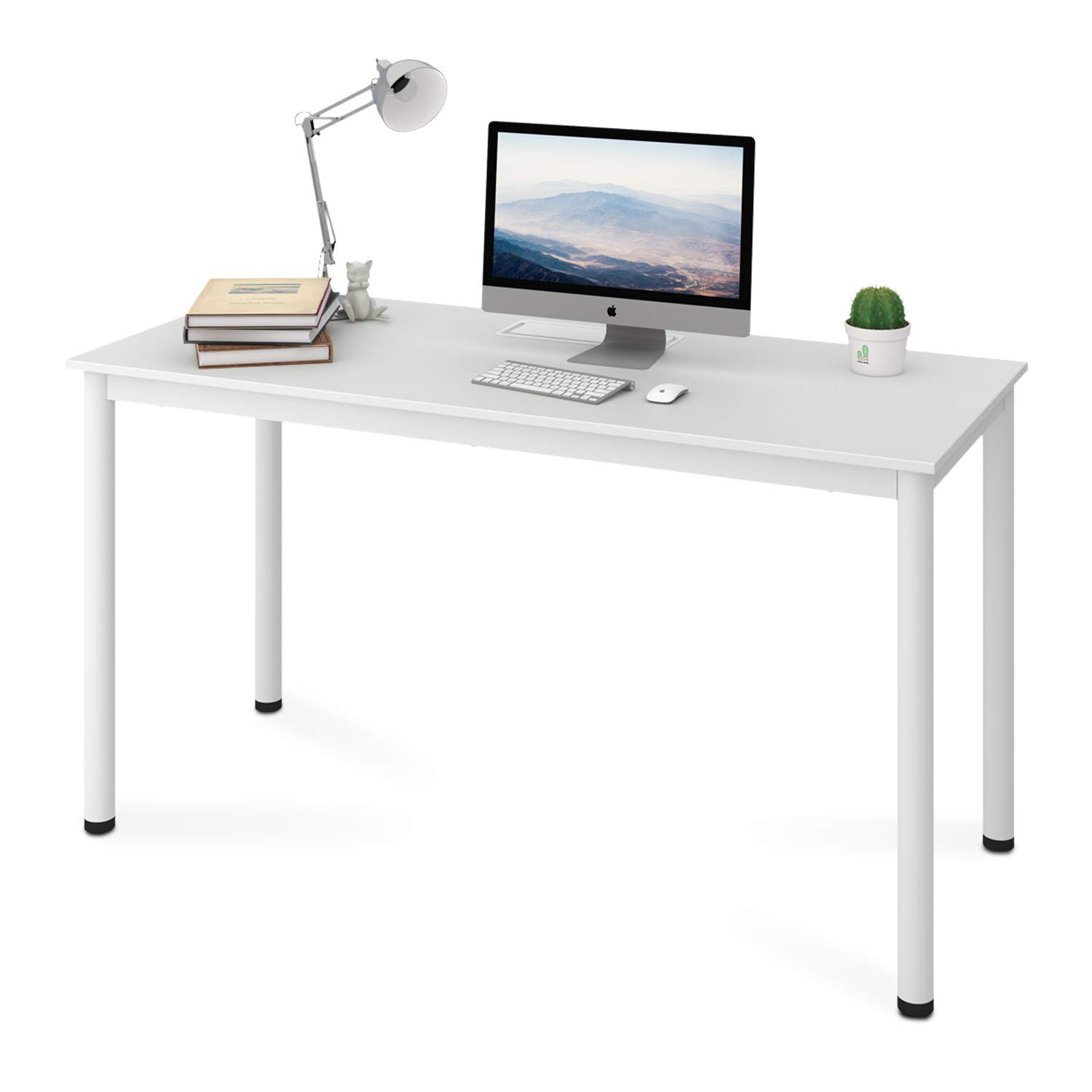 DEVAISE 55'' Modern Simple Style Computer Desk, PC Laptop Study Table with Cable Management, Workstation for Home Office by DEVAISE