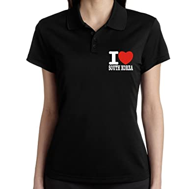 Teeburon I Love South Korea Polo Camisa Mujer: Amazon.es: Ropa y ...