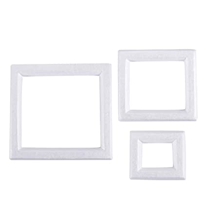 Amazon.com: Craft Foam - 3-Pack Foam Photo Frames for DIY Crafts ...
