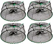 """KUFA SPORTS Tower Style Stainless Steel Prawn Trap Size: 30"""" X 20""""X 12"""" (4-Pack Combo) (Stretch"""