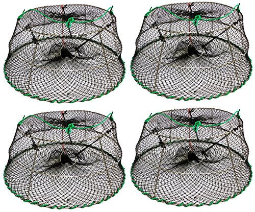 - 4 Pack of KUFA SPORTS Tower Style Stainless Steel Prawn Trap Size: 30