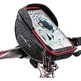 Sac de guidon de vélo, Xphonew Top Tube de vélo Pouch, Sac de cadre de vélo téléphone support de fixation pour iPhone 7 6 6S Plus Samsung Galaxy S8 S7 S6 Edge Plus Note 4 5 LG Smartphone up to 6 pouce