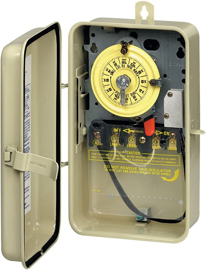 amazon.com : intermatic t104r201 time switch, beige : swimming pool timers  : garden & outdoor  amazon.com
