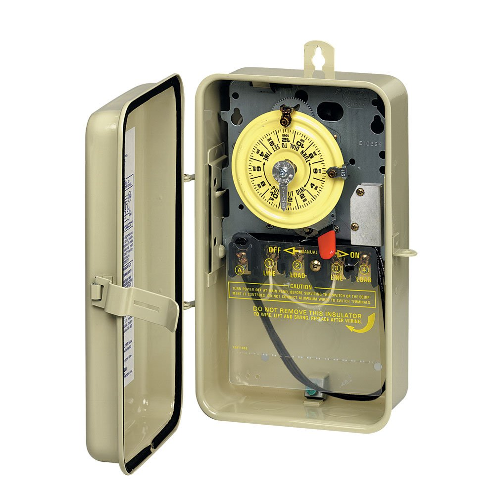 Intermatic T104R201 DPST Heat Pro Time Switch In Metal Enclosure