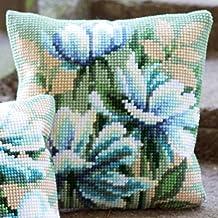 Cross Stitch Cushion: Japanese Anemones I
