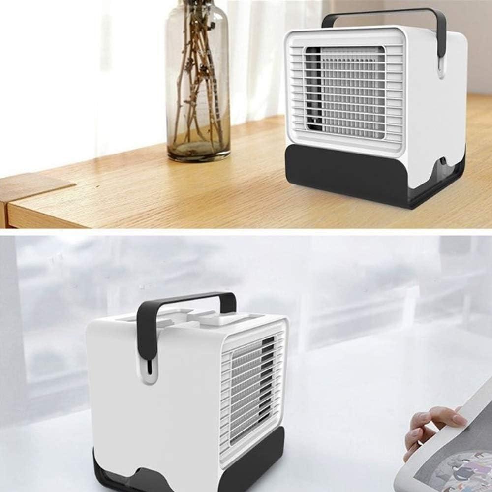 Convenient Summer Mini Air Cooling Electric Fan USB Small Cold Electric Fan Office Dormitory Desktop Electric Fan Durable Color : Black