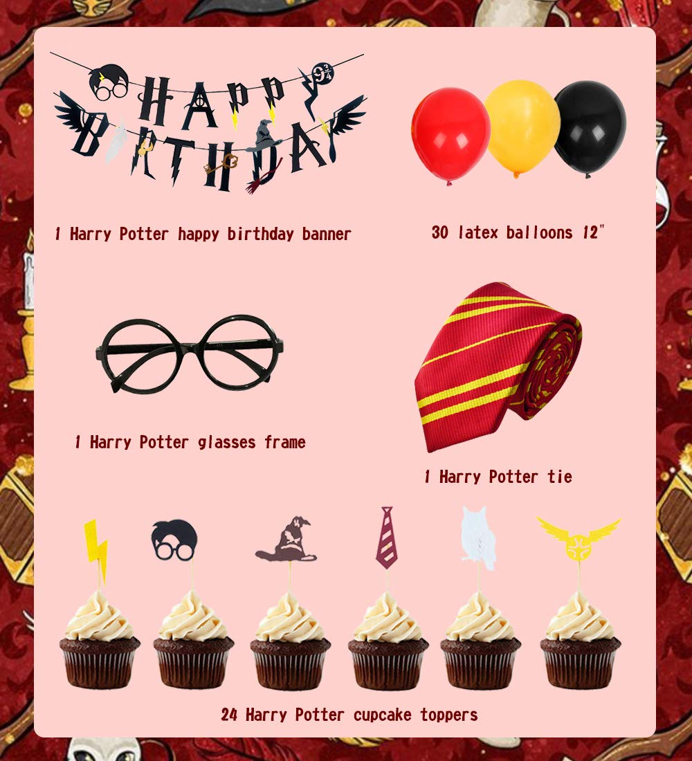Amazon.com: KREATWOW Harry Potter suministros de fiesta ...